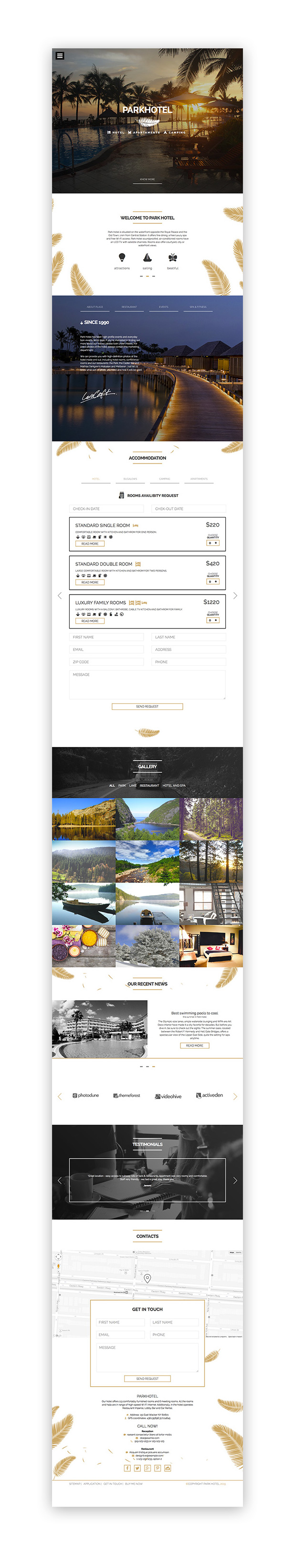 Parkhotel - Accommodation Multiple Designs HTML - 1